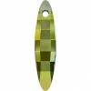 Swarovski Pendant 6470 Ellipse 48mm Iridescent Green Crystal